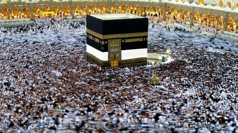 Hajj pilgrimage to Mecca, Kaaba Saudi Arabia