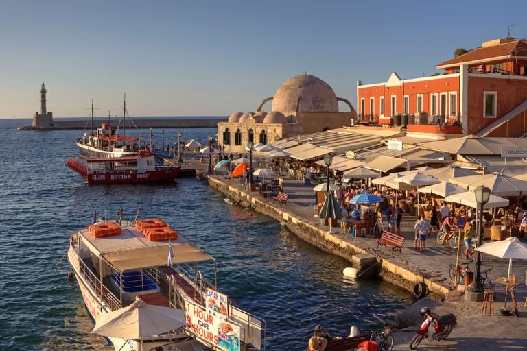 Venetian harbor, Chania, Crete, Greece