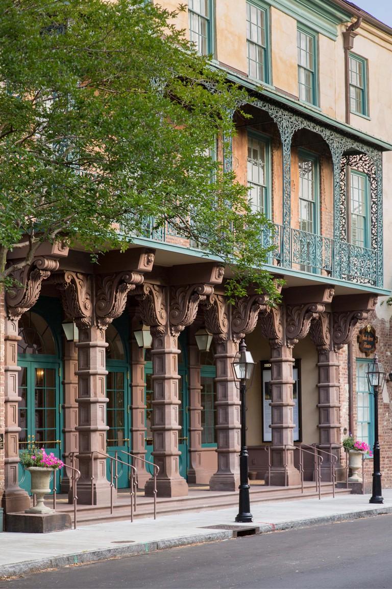 Restored Dock Street Theatre on Church Street in historic Charleston, South Carolina
