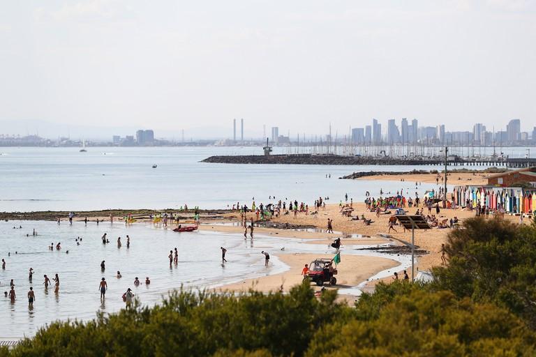 Brighton Beach, Melbourne, Australia.