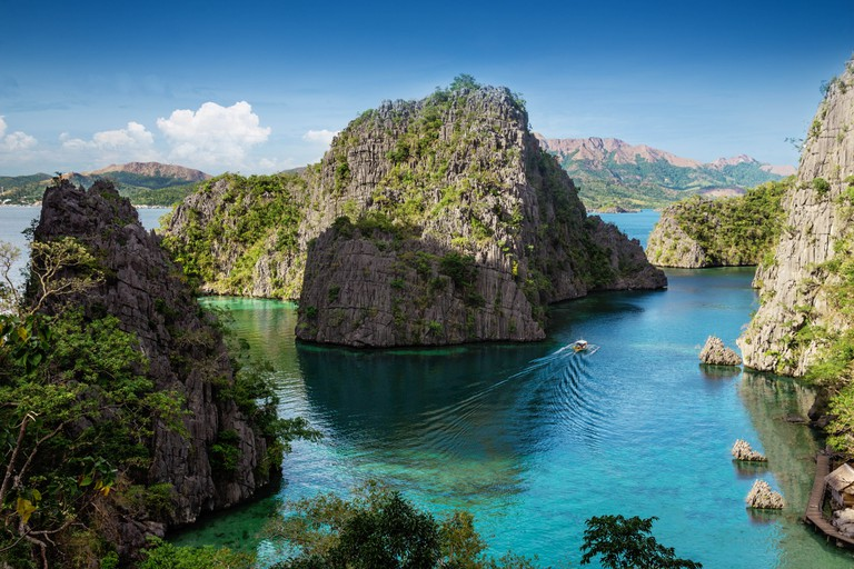 The iconic view over Coron island