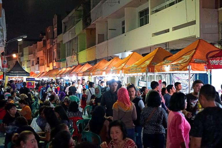 Semawis Night Market, Semarang, Indonesia.