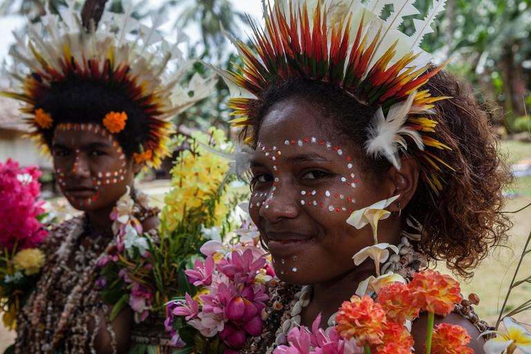 Girl of Kofure, Tufi, Oro Province, Papua New Guinea