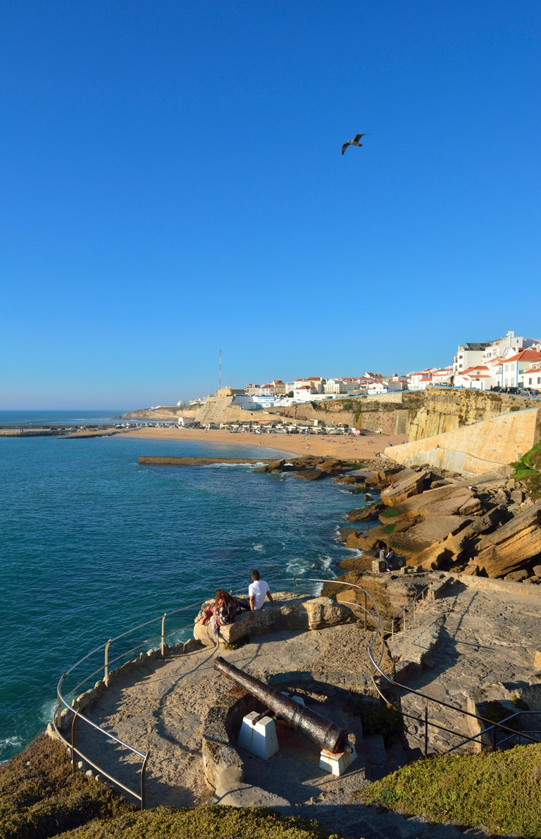 The village of Ericeira overlooking the Atlantic Ocean. Portugal (MR)