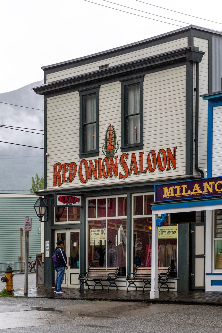 Red Onion Saloon, Skagway, Alaska, United States, USA, Tuesday, May 22, 2018.