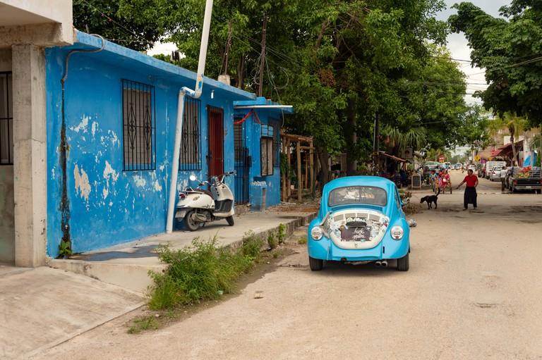 Quieter streets of Tulum