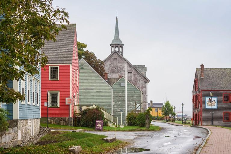 Shelburne historic waterfront in Nova Scotia, Canada