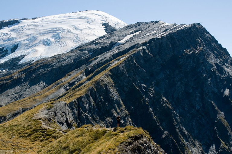Plunket Dome from the Cascade Saddle, Mount Aspiring National Park, New Zealand