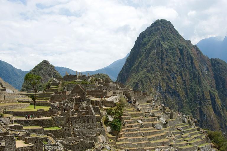 Machu Picchu with Huayna Picchu and terracing, Peru
