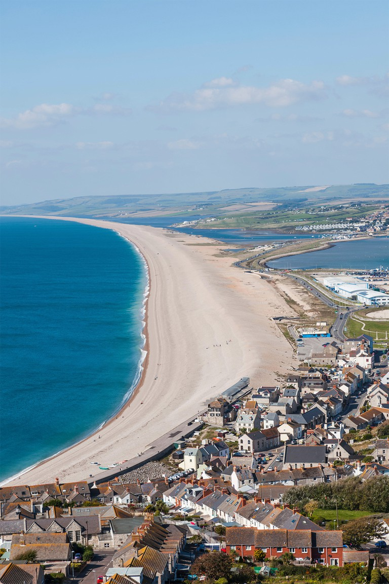 Chesil Beach is part of Devon's renowned Jurassic Coast World Heritage Site