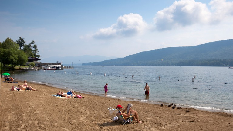 Swimming Beach, Lake George, New York