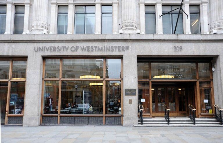 University of Westminster building in Portland Place in London, formerly known as Regent Street Polytechnic