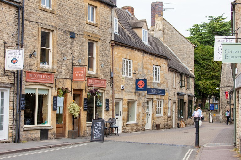 Shops in the Cotswold town of Stow on the Wold