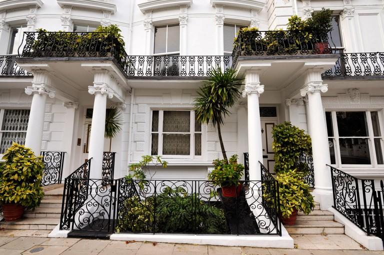 Samarkand Hotel, 21-22 Lansdowne Crescent, W11: in the basement flat (now Turkish Embassy and bank offices) rock guitarist Jimi Hendrix died of a drug overdose, September 18, 1970. The flat of his girlfriend Monika Dannemann. A former Animals 'roadie,' Ja
