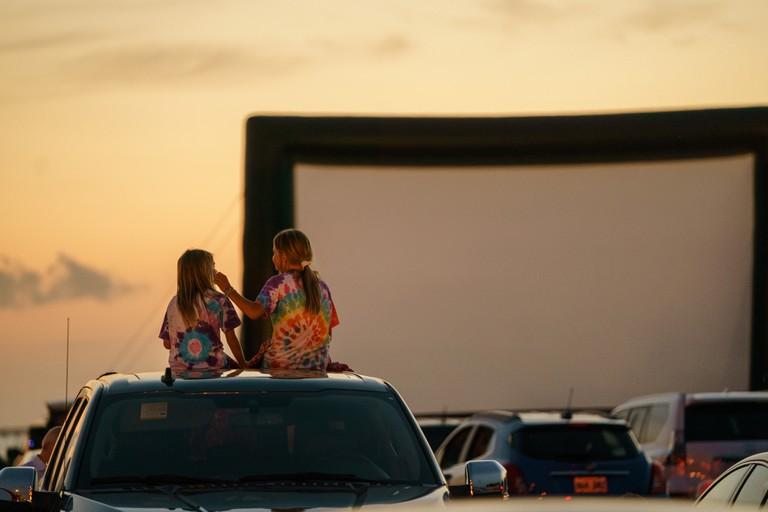Bucktown Marina Park Hosts a Pop-Up Drive-In Movie Theater