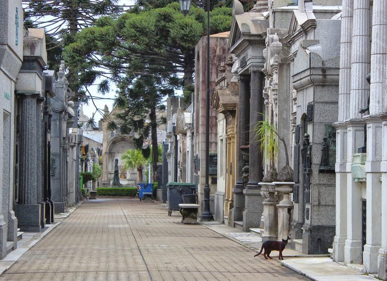 World famous La Recoleta Cemetery in Buenos Aires, Argentina