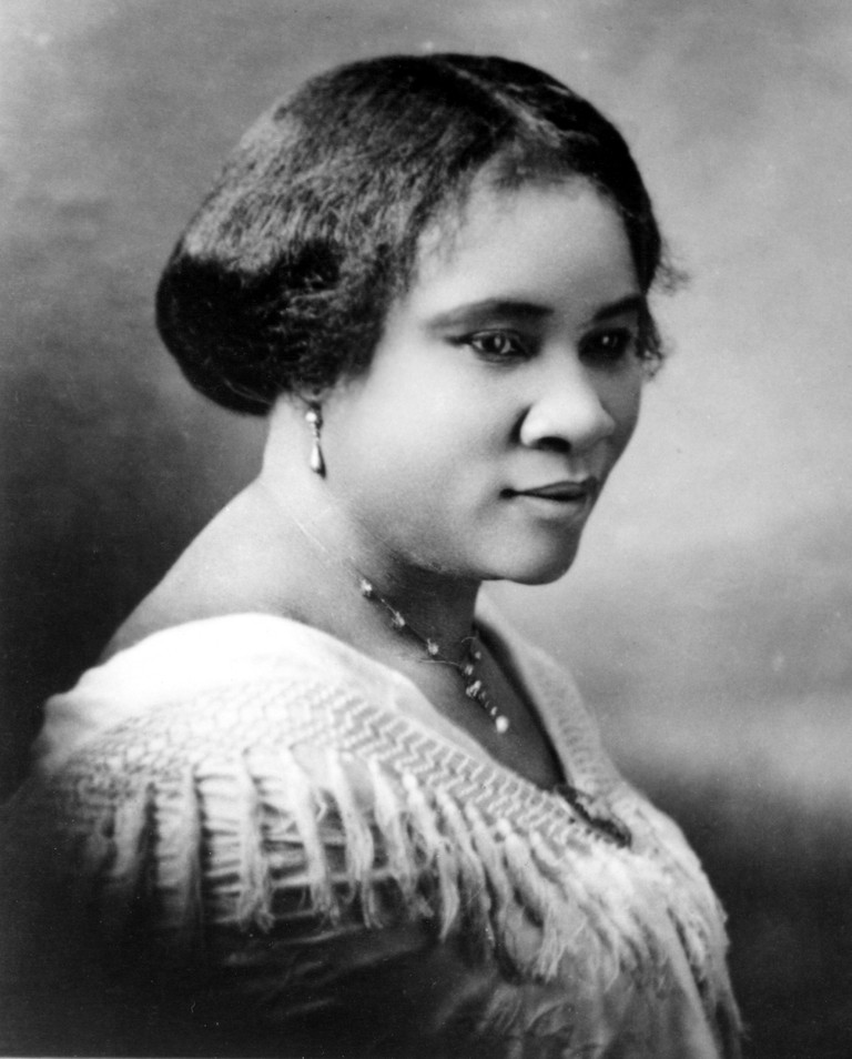 Madam C.J. Walker, the first female self made millionaire in the world, circa 1914