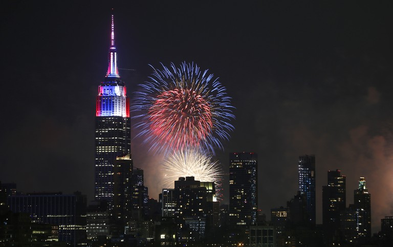 Fireworks Light Up The Skies Over New York On Independence Day