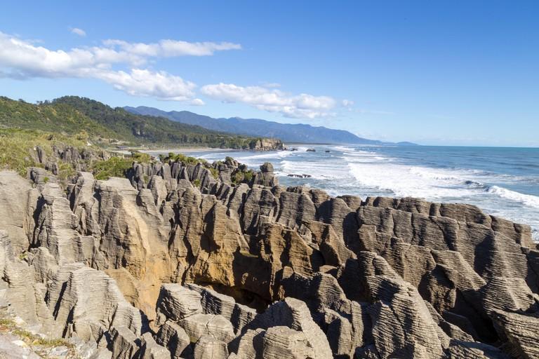Punakaiki rocks in New Zealand