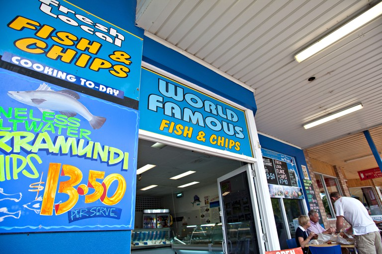 Fish and Chips restaurant, Huskisson NSW, Australia