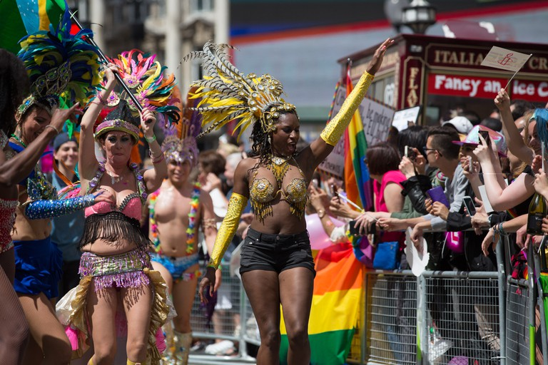 Performers in the Pride Parade
