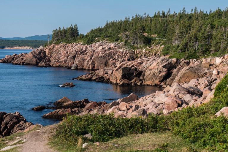 Coastline, McKinnon's Cove, Cabot Trail, Cape Breton Island, Nova Scotia.