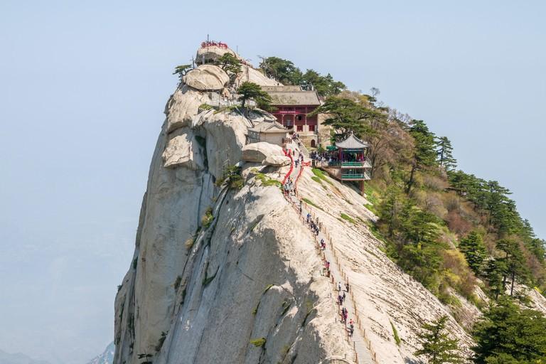 Staircase to the top of Huashan Mountain, China