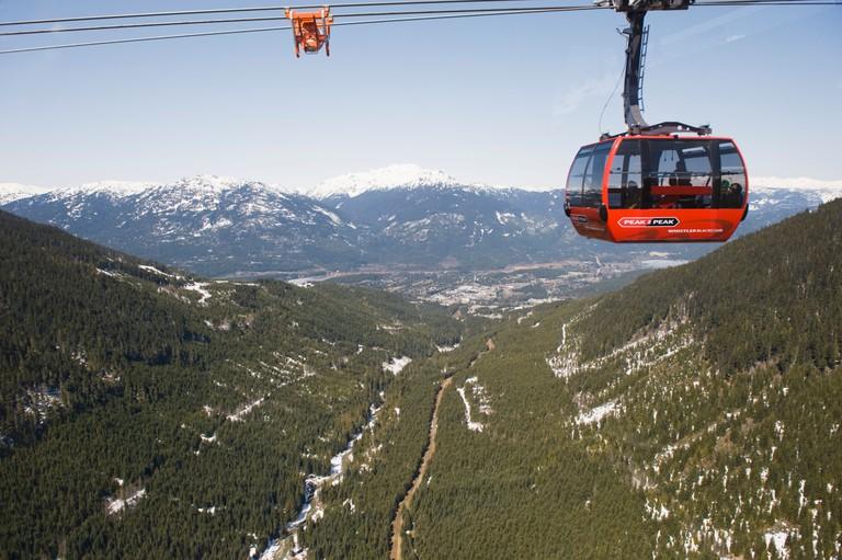 BC Whistler resort Peak 2 Peak gondola