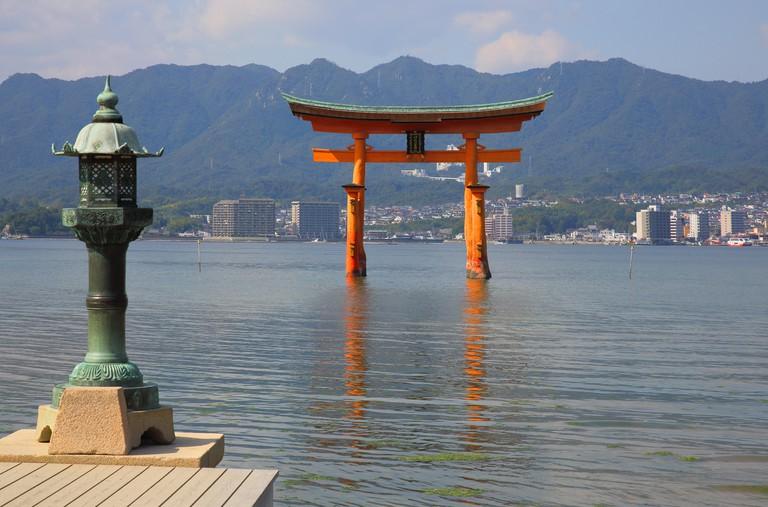 Torii gate on Miyajima island, Japan.