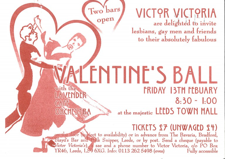 Victor Victoria Valentines Ball 1998 ticket
