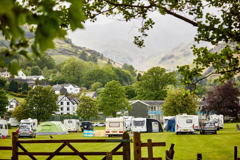 Campsite in Coniston, Lake District, Cumbria