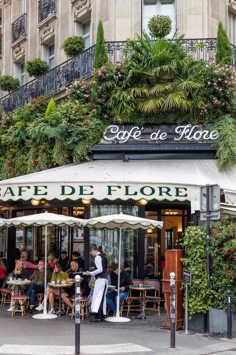 Cafe de Flore, Saint Germain des Pres, Paris