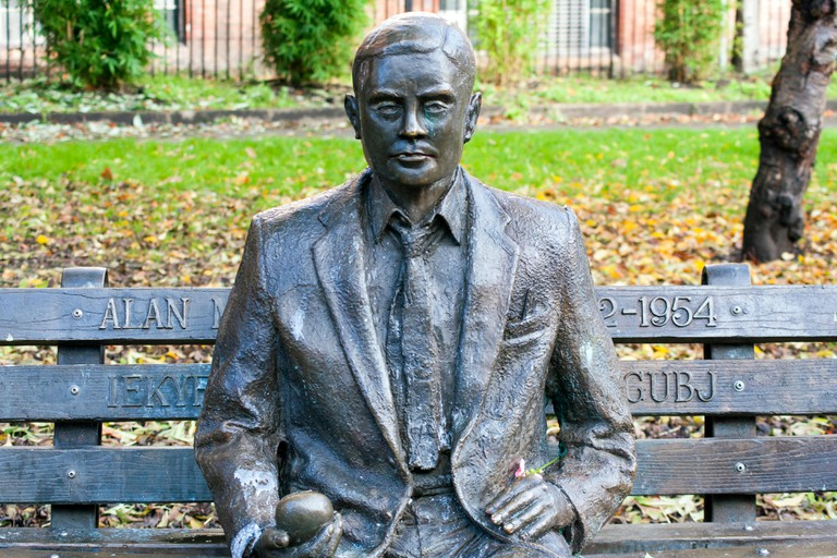 Alan Turing Statue Manchester