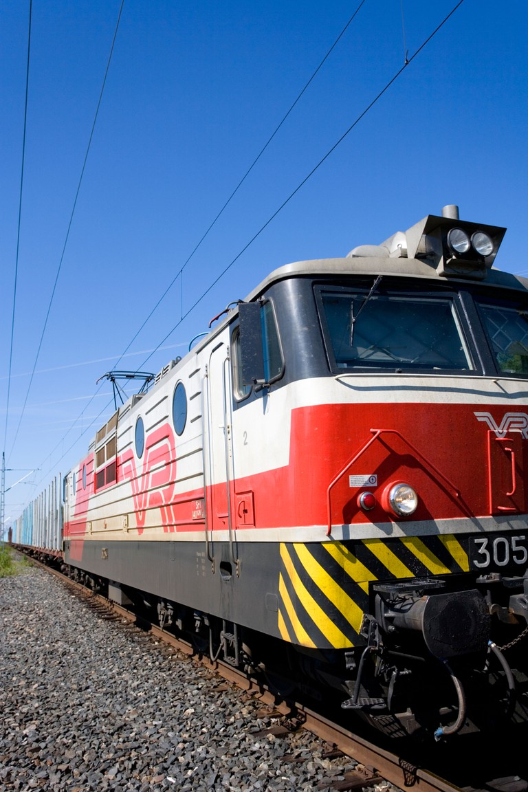 Electric locomotive owned by VR , Finland