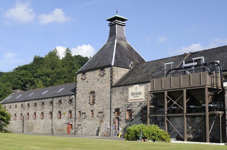 Aberfeldy Distillery in the centre of Scotland Perthshire