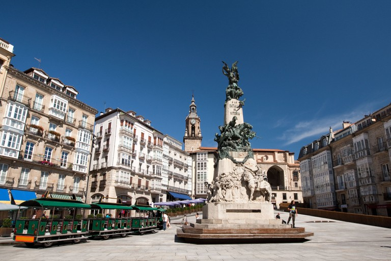 Plaza de la Virgen Blanca, Vitoria-Gasteiz, Spain.