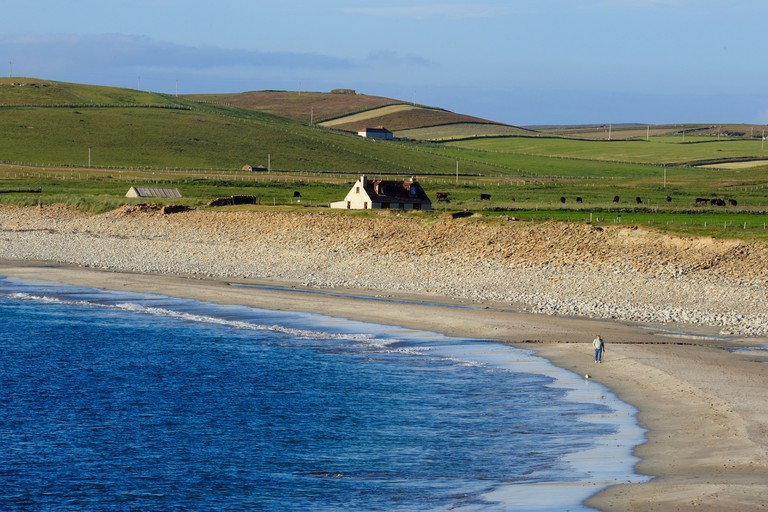 The Bay of Skaill at Skara Brae, Mainland Island, Orkney Islands