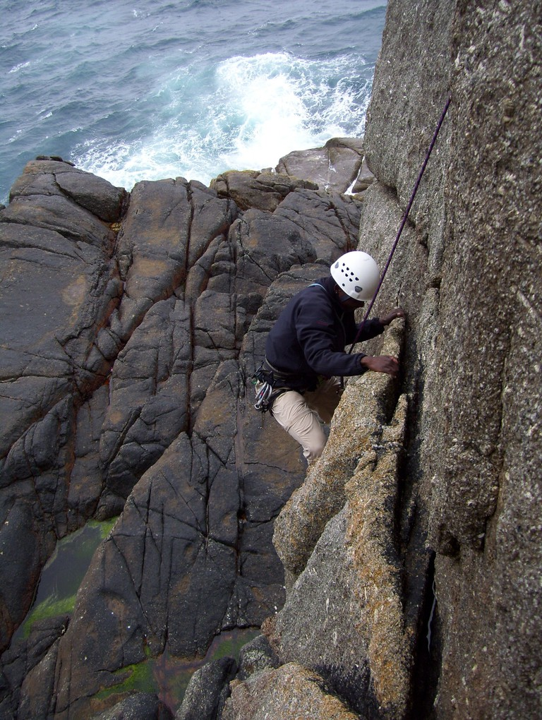 Social climbing outings with my friend John, Cornwall, England