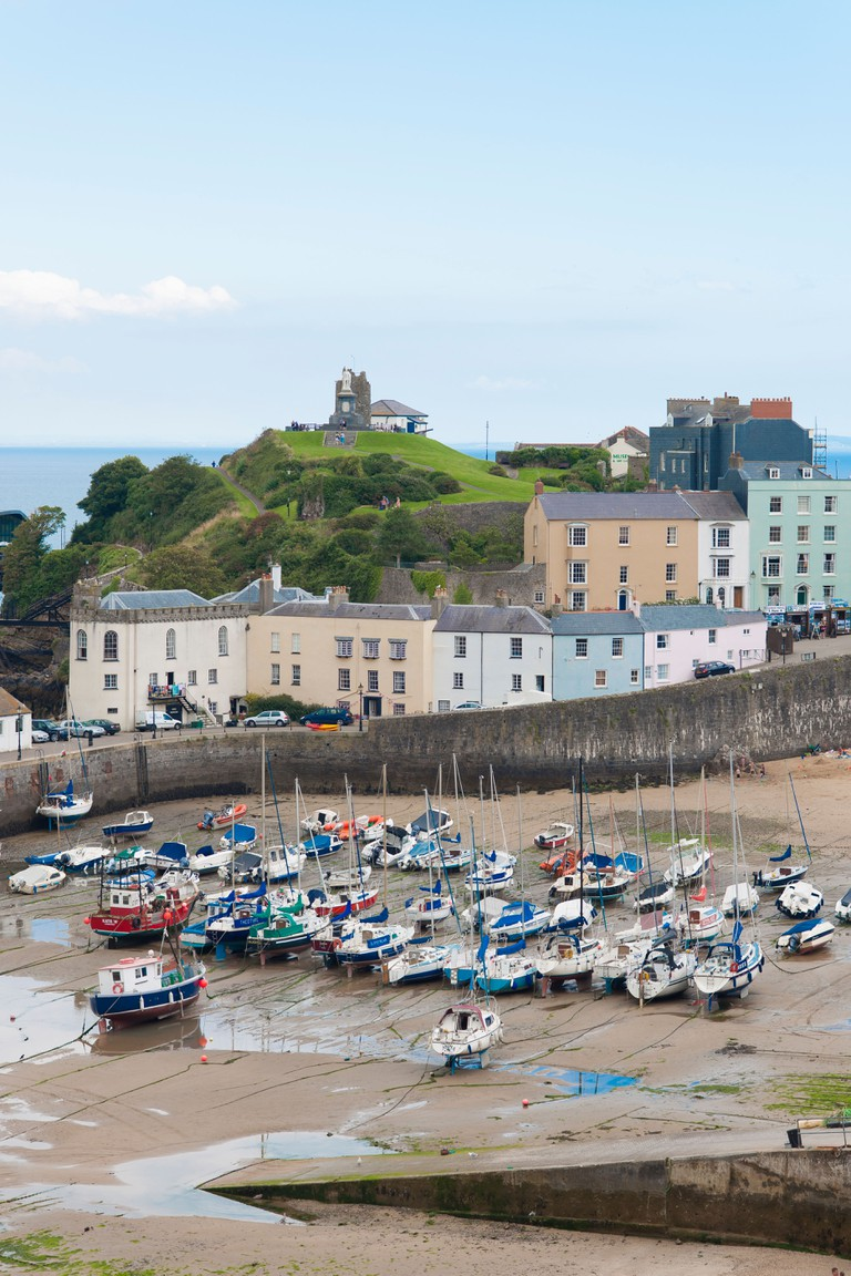 The harbour in Tenby, Wales