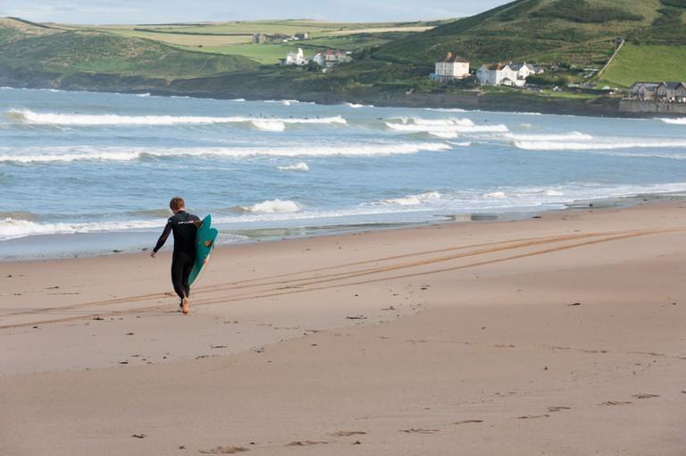 Early morning surf, Croyde Bay, North Devon