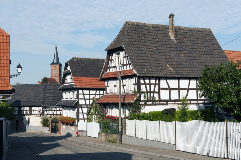 Half-timbered houses in Hunspach