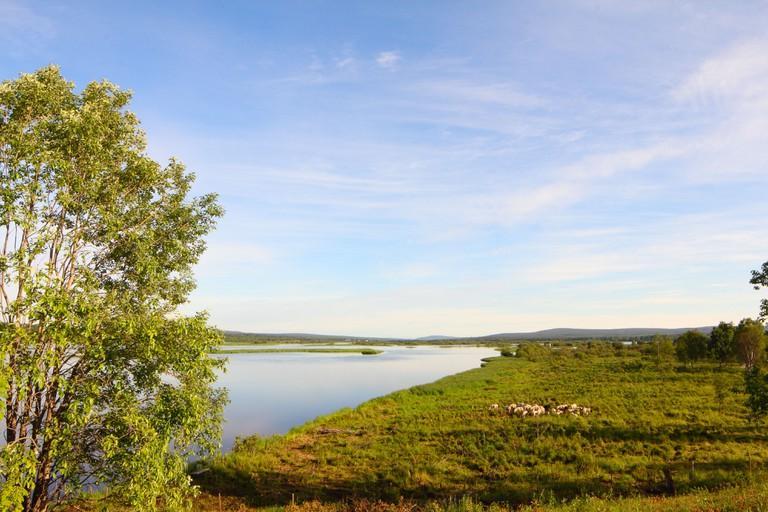 Kemijoki river, Rovaniemi, Finland