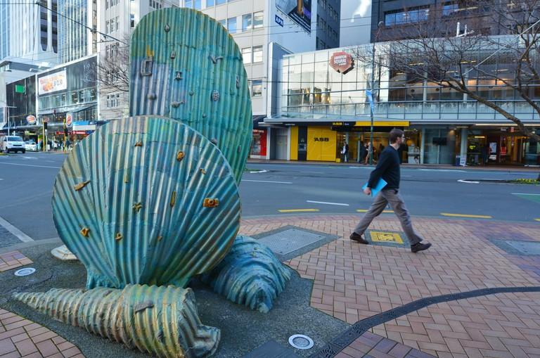Street sculpture on Lambton Quay