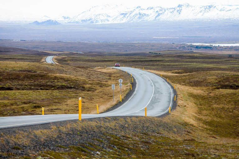 Road between the mountains, Iceland