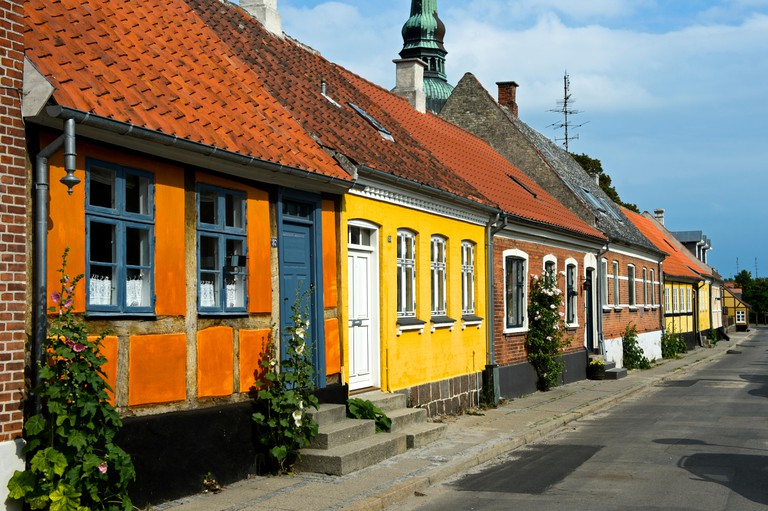Row of houses, Nysted, Lolland
