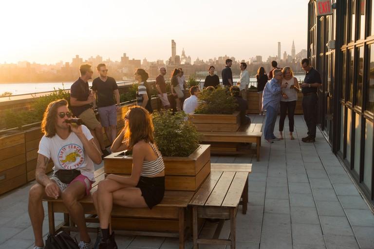 Rooftop bar at Wythe hotel, Williamsburg