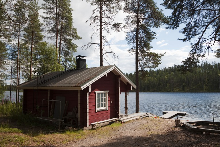 Lakeside Sauna in Finland