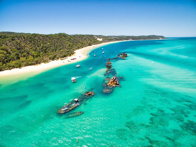Tangalooma shipwrecks on Moreton Island