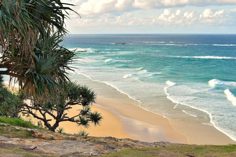 North stradbroke island beach, Queensland.