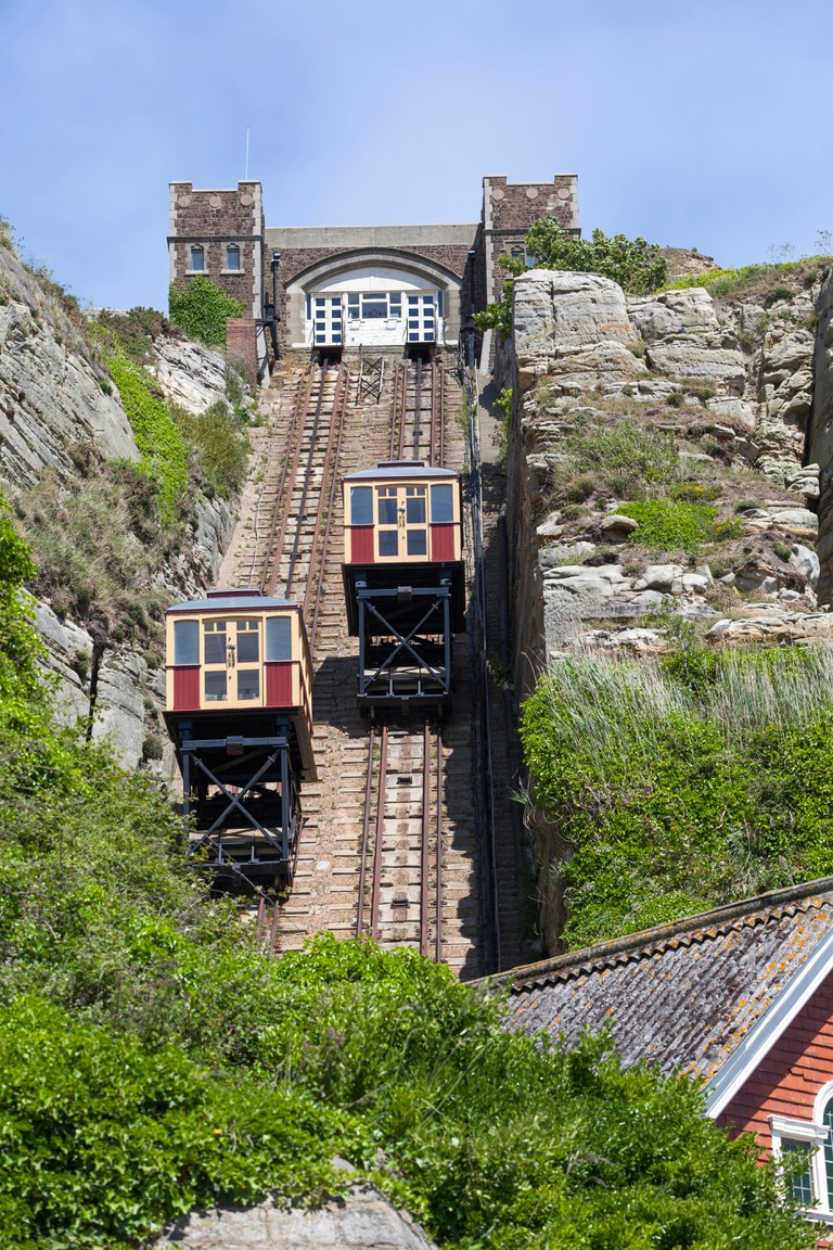 East Hill Cliff Railway, is a funicular railway located in Hastings, East Sussex